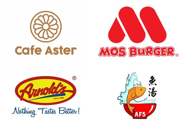 CafeAster-MosBurger-ArnoldsFriedChicken-ArcadeFishSoup